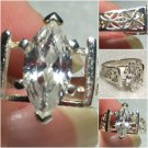 Sterling Silver 12x6mm Marquise White Cz Ring Sz 8 #20