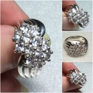 Sterling Silver (12) 4x3mm Oval White Cz Ring Sz 7 # 39