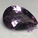 Rose de France Amethyst 30x20mm Pear Checker 39.75ct
