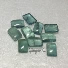 Chrome Fluorite 5x3mm Octagon Cab