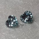 Blue Zircon 5mm Heartshape