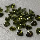 Green Zircon 5x4mm Pearshape