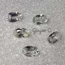 White Zircon 4.5x3mm Oval