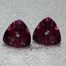Pink Topaz 8mm Trillion
