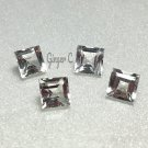 White Topaz 5mm Princess Cut