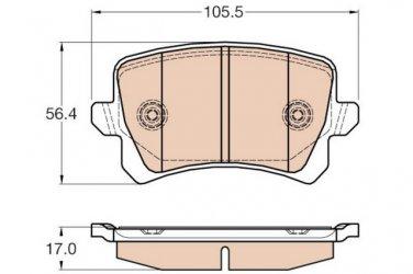 True Ceramic Top Quality Low Dust Brake Pads - Rear- CRD1348 Volkswagen CC