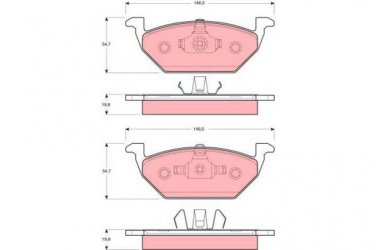 True Ceramic Top Quality Low Dust Brake Pads - Front - CRD768 Volkswagen Jetta