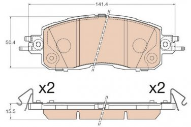 True Ceramic Top Quality Low Dust Brake Pads Fits Nissan Altima  - Front - D1650