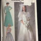 Simplicity Pattern 7936 Adult 14 Women's Dress Bridal Formal Wedding Vintage