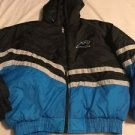 Carolina Panthers Coat Jacket Adult XL Jerzees Vintage Game Day NFL Hood