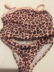 Cabana Life Swimsuit oddler Girls Size 2T 2 Piece Tankini Pink Brown Leopard Pri