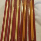"5 Pairs Vtg Boye Balene 14"" Knitting Needles 14k Gold Plated Caps Various Sizes"