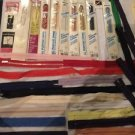 Lot Of 37 Vintage Zippers Some New, Some Out Of Pack 7-18""