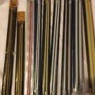9 Pairs Vtg Knitting Needles Susan Bates Quicksilver Silvalume Various Sizes