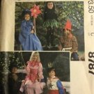 McCalls Pattern 8787 Size 4 6 Girls Boys Costume Elf Gnome Prince Princess Vtg