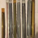 8 Pairs Vtg Knitting Needles Susan Bates Quicksilver Silvalume Various Sizes