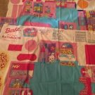 Barbie Fold And Go Fabric Panels Lot Of 3 Kitchen Bathroom Bedroom