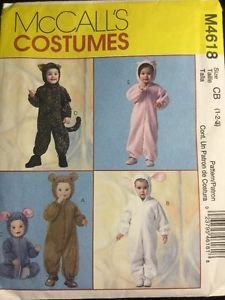 McCall Costume Pattern M4618 Factory Folded Uncut Toddler Size 1 2 3 CB Animal