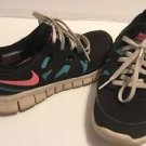 Nike Shoes Girls Size 5y 5 Youth Black Pink Blue Low Top Lightweight Athletic