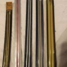 5 Pairs Vtg Knitting Needles Susan Bates Quicksilver Silvalume Various Sizes