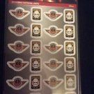 Star Wars 96 Stickers 4 Sheets of 24 Resistance Power First Order