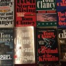 Lot Of 8 Tom Clancy Paperback Novels Books