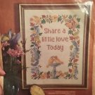 """Paragon Needle Craft Cross Stitch Kit 0580 11"""" X 14"""" Share A Little Love Today"""