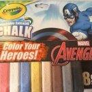 Crayola Marvel Avengers Washable Sidewalk Chalk Pack 8 Sticks New