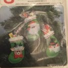 3 Christmas Prize Pocket Mini Stocking Kit Reindeer Santa Clause Frosty Snowman