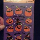 Vintage Halloween Stickers Pumpkins Jack-O-Lanterns Bats Cats