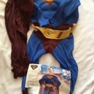 Superman Returns Costume Boy Size Medium Body Cape Muscle Chest Complete New