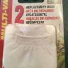 Multi Vac 2 Replacement Bags A-1005 Hagen For Battery Powered Aquarium Cleaner