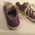 Converse All Star Girls Shoes Size 2 Youth Purple White Low Top Play Condition