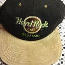 Hard Rock Cafe Beijing Love All Serve All Snapback Black Tan Hat Adult