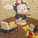 Plush Baby Blanket 45x56 Traveling Pilot Bear Frog Soft Large Lovie