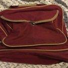 Maroon Canvas Bowling Bag Hand Bag Shoe Compartment  1 Ball