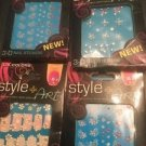 LA Colors Style + Art 3D Nail Stickers Lot Of 4 Pack New Stocking Stuffers
