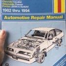Haynes General Motors 1982 thru 1994 Repair Manual #38015