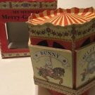 """Vintage My Musical Merry Go Round Works Card Paper 6"""" Tall Carousel Books Box"""
