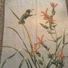 Hummingbird Tapestry Throw Blanket Fringe 51x68 Spring Birds