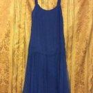 Jack Bryan Vintage Swing Dress Blue 10 Chiffon Rockabilly Drop Waist Cocktail