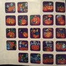 Vintage Halloween Stickers Pumpkins Jack-O-Lanterns Bats Cats Metallic