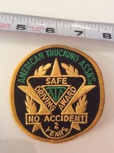 Patch American Trucking Assns Safe Driving Award ATA No Accident 2 Years