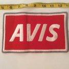 Vintage Patch Avis Large Red White Rockabilly Americana