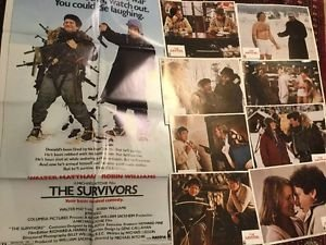 The Survivors 1983 Movie Poster And Lobby Card Set 8 Robin Williams Original Vtg