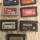 Gameboy Advance Games Lot Of 7 Lego Star Wars Spider-Man 2 Strawberry Shortcake
