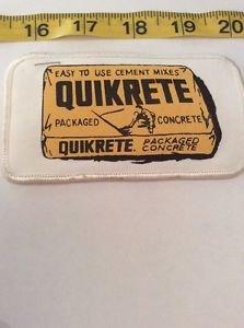 Vintage Patch Quickrete Concrete Vendor White Yellow Black Rockabilly Americana