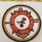 Patch Memorabilia US Saipan LHA 2 Omnia Facimus Black Yellow Red White Americana