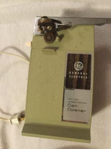 Rare Vintage GE Custom Electric Can Opener Avocado Green General Electric Works