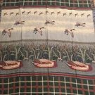 Ducks Hunting Tapestry Throw Blanket Fringe 50x58 Cabin Wildlife Lake Woods